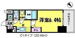 エスリード京橋[5階]の間取り