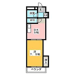 芹澤マンション[1階]の間取り