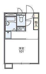 東京都東久留米市柳窪1丁目の賃貸アパートの間取り