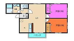 ロックガーデンII[2階]の間取り