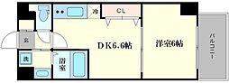 コスモプレミアムベイ大阪[2階]の間取り