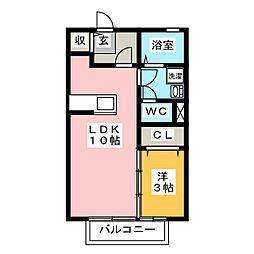 レセンテ K[1階]の間取り