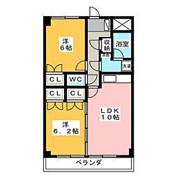 サンコートヒロ[3階]の間取り