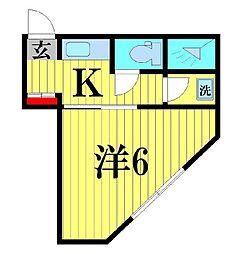 コーポ新田[201号室]の間取り