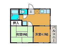 ドリームハイツ千代田[2階]の間取り