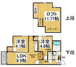 CB博多カルネI 2012年築[2階]の間取り