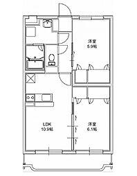 エクレール 3[305号室]の間取り