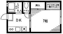 神奈川県伊勢原市桜台4丁目の賃貸アパートの間取り