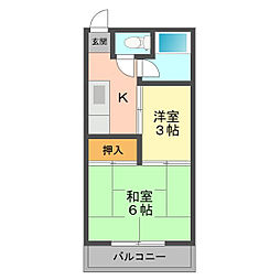 東京都江戸川区南小岩4丁目の賃貸マンションの間取り