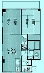 神奈川県川崎市高津区末長3丁目の賃貸マンションの間取り