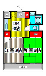 レジデンス白鷺[3階]の間取り