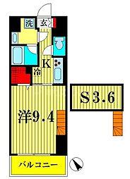 ザ アークトゥルス スピカ 1階1SKの間取り