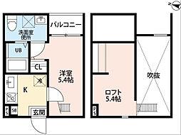 Xevi Flat(チェビイフラット)[2階]の間取り