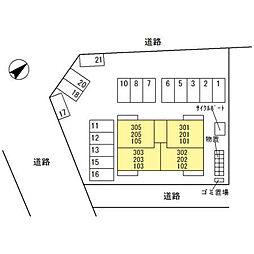(仮)D-room四十万町[302号室]の外観