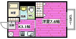 広島県広島市安芸区船越南4丁目の賃貸アパートの間取り