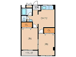 エニシダ紀ノ川マンション[2階]の間取り