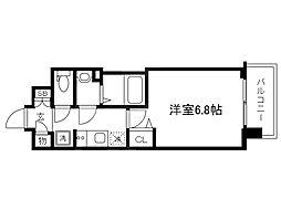 JR東西線 大阪城北詰駅 徒歩1分の賃貸マンション 9階1Kの間取り
