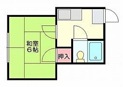 ウイングハイツ[2階]の間取り