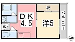 姫路マンション[301号室]の間取り