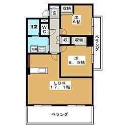 LAB La CORE 新屋敷[4階]の間取り
