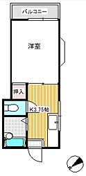 東門ハイツ[201号室]の間取り