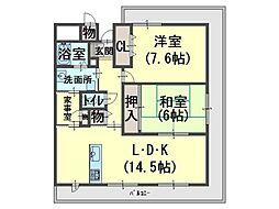 オルト加神[4階]の間取り