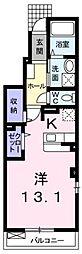 JR予讃線 丸亀駅 徒歩25分の賃貸アパート 1階1Kの間取り