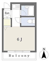 プティ・シャレ― 1階ワンルームの間取り