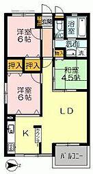 YNT第1マンション[206号室]の間取り