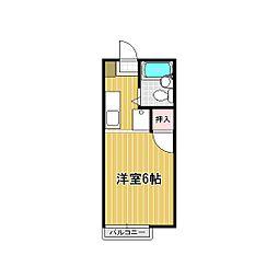 レインボーハイツ平松[101号室]の間取り