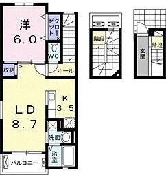 フィオレンティーナ[3階号室]の間取り
