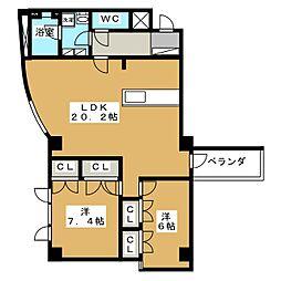 グランフォルム京都御所南[2階]の間取り