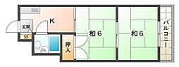 森岡ハイツ[2階]の間取り