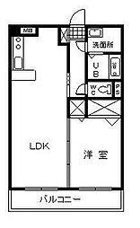 エアフォルク2[1階]の間取り