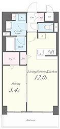 JR東海道・山陽本線 六甲道駅 徒歩3分の賃貸マンション 2階1LDKの間取り