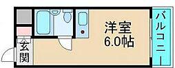 大阪府大阪市東成区中本1丁目の賃貸マンションの間取り