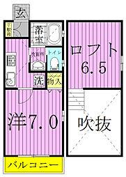 アパートメントKASAIII[201号室]の間取り