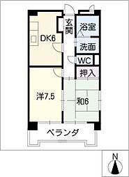 ドムス栄[3階]の間取り
