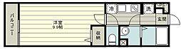 リブリ・富士見 1階1Kの間取り