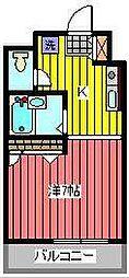 埼玉県川口市本町2の賃貸マンションの間取り