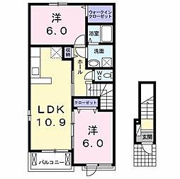 シスコ 椎津[2階]の間取り