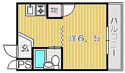 大阪府吹田市岸部南1丁目の賃貸マンションの間取り