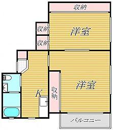 セブンマンション[2階]の間取り