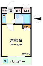 リバーモガミ[4階]の間取り