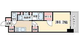 JR東西線 北新地駅 徒歩4分の賃貸マンション 10階1Kの間取り