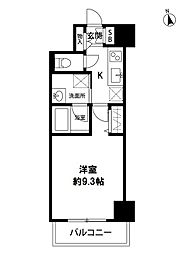 S-FORT新潟本町 3階1Kの間取り