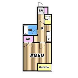 マイコート日野II[3階]の間取り