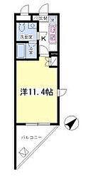 カーサ能ヶ谷[2階]の間取り