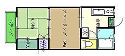 JR東北本線 仙台駅 バス15分 神社前下車 徒歩1分の賃貸アパート 1階2Kの間取り