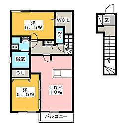 Maison Nova[2階]の間取り